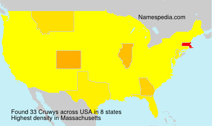 Surname Cruwys in USA