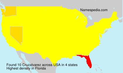 Familiennamen Cruzalvarez - USA