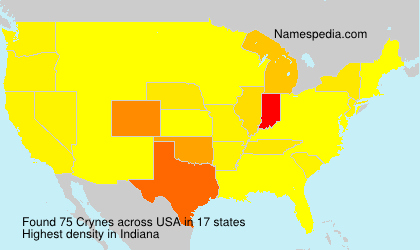 Surname Crynes in USA