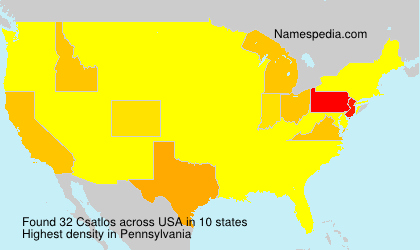 Surname Csatlos in USA