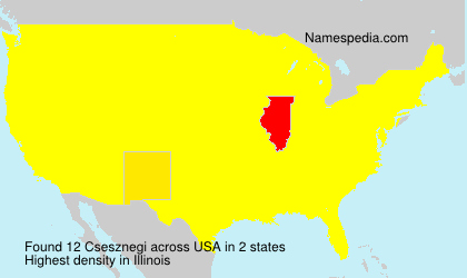 Surname Csesznegi in USA