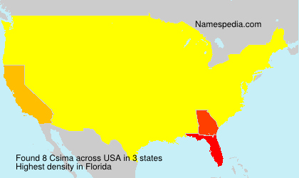 Surname Csima in USA
