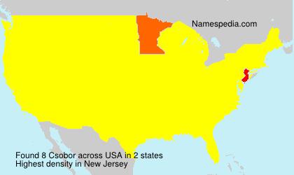 Surname Csobor in USA