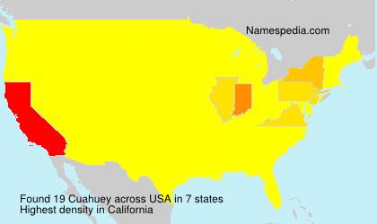 Familiennamen Cuahuey - USA