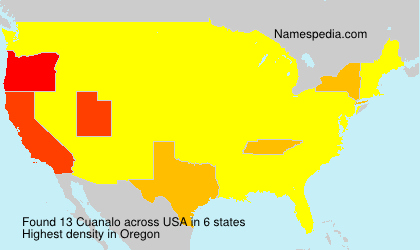 Surname Cuanalo in USA