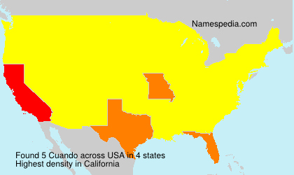 Surname Cuando in USA