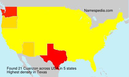 Surname Cuanzon in USA