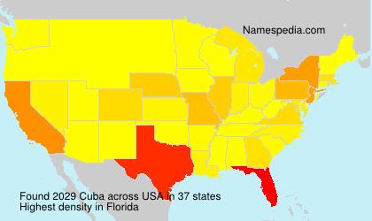 Surname Cuba in USA