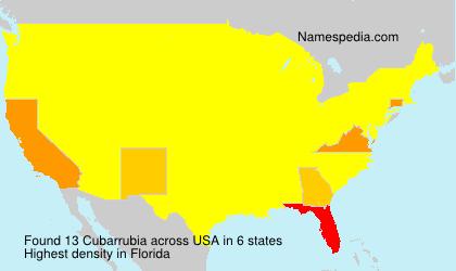 Surname Cubarrubia in USA