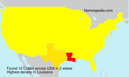 Surname Cubbit in USA