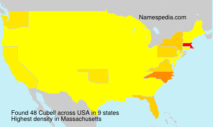 Surname Cubell in USA