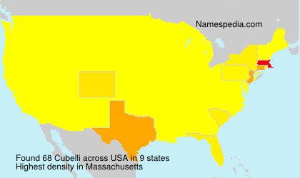 Surname Cubelli in USA