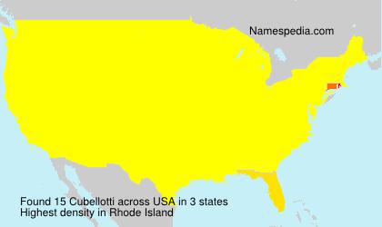 Surname Cubellotti in USA