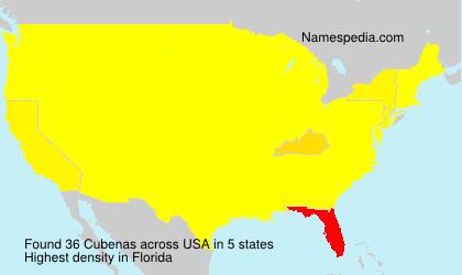 Surname Cubenas in USA