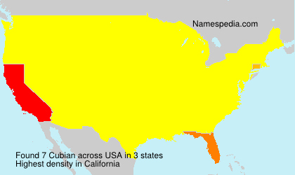 Surname Cubian in USA