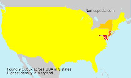 Familiennamen Cubuk - USA