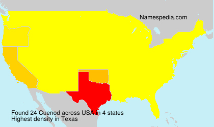 Surname Cuenod in USA