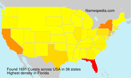 Surname Cuesta in USA