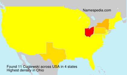 Surname Cuglewski in USA