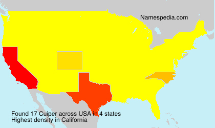 Familiennamen Cuiper - USA
