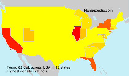 Surname Cuk in USA