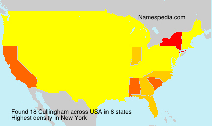 Surname Cullingham in USA