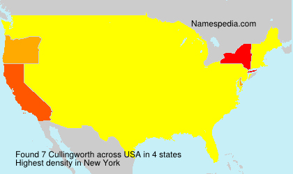 Surname Cullingworth in USA