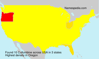 Surname Cullumbine in USA