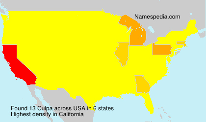 Surname Culpa in USA