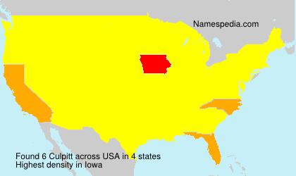 Surname Culpitt in USA