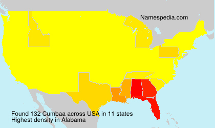 Surname Cumbaa in USA