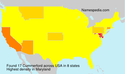 Surname Cummerford in USA