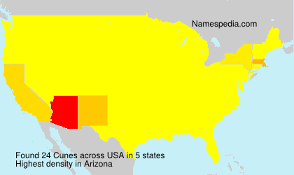 Surname Cunes in USA