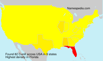 Surname Cunill in USA