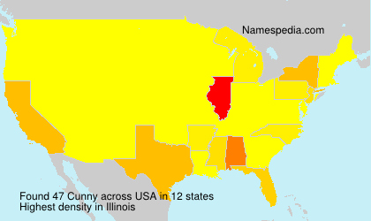 Surname Cunny in USA