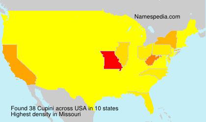 Surname Cupini in USA