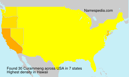Surname Curammeng in USA