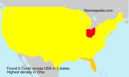Familiennamen Curati - USA