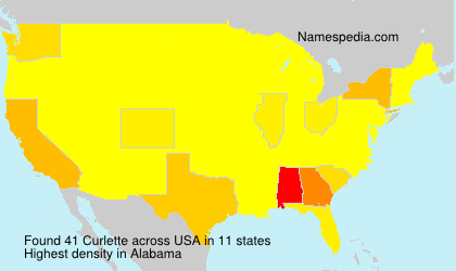 Surname Curlette in USA