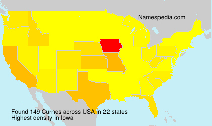 Surname Curnes in USA