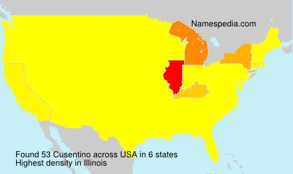Surname Cusentino in USA