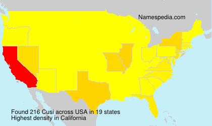 Familiennamen Cusi - USA