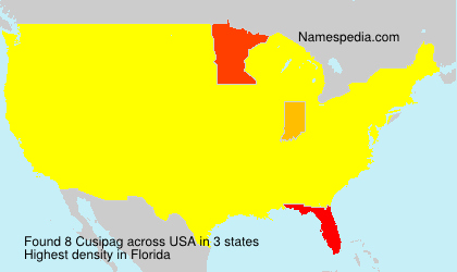 Surname Cusipag in USA