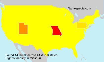 Surname Cutak in USA