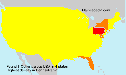 Surname Cutier in USA