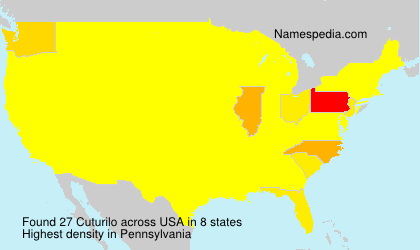 Surname Cuturilo in USA