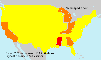 Surname Cuver in USA