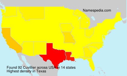 Surname Cuvillier in USA