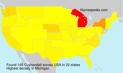 Surname Cuykendall in USA