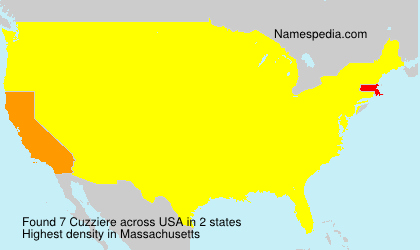 Surname Cuzziere in USA
